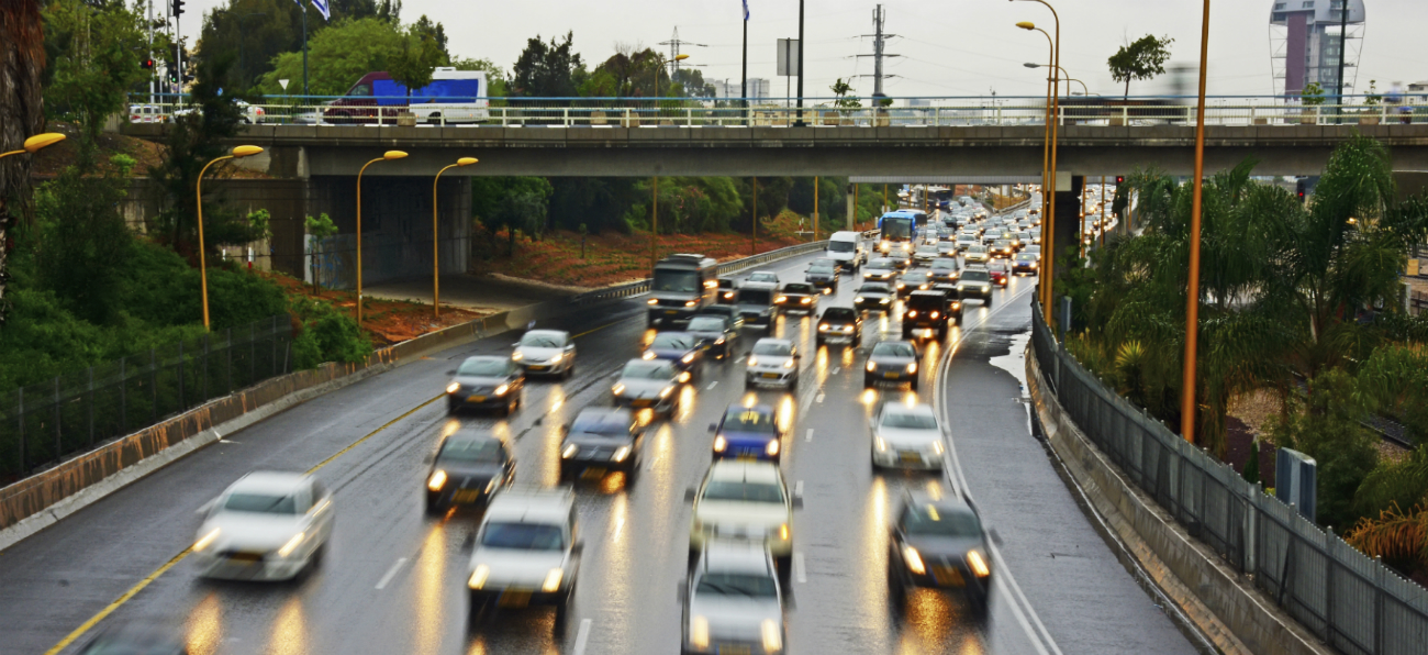 image of traffic under bridge