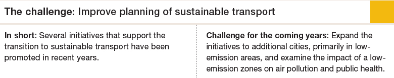 Challenge 6: Improve planning of sustainable transport
