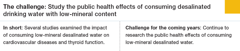 Challenge 3: Study the public health effects of consuming desalinated drinking water with low-mineral content