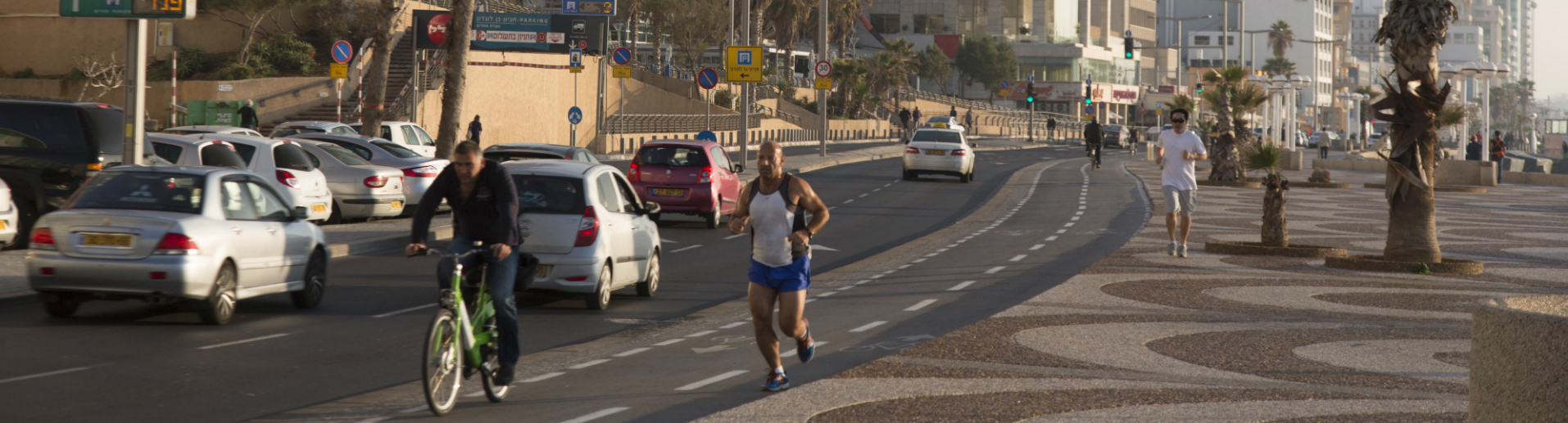 Traffic near Tel Aviv beach