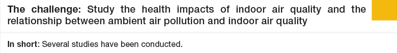 Challenge 2: Study the health impacts of indoor air quality