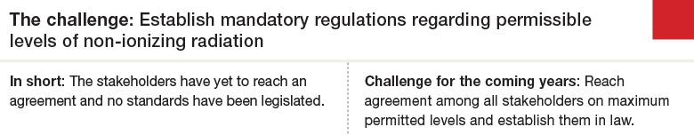 Challenge 4: Establish mandatory regulations regarding permissible levels of non-ionizing radiation