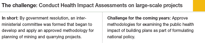 Challenge 3: Conduct Health Impact Assessments on large-scale projects