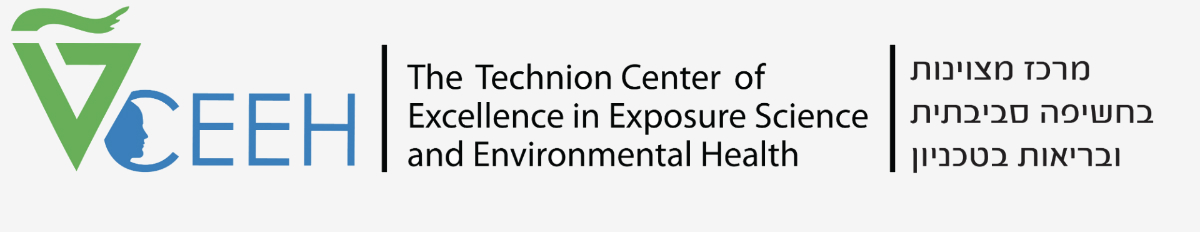 logo of he Technion Center of Excellence in Exposure Science and Environmental Health
