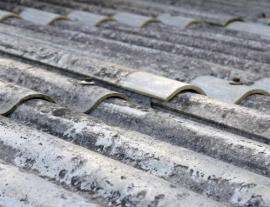 image of roof tiles containing asbestos