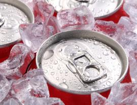 Iced soda cans