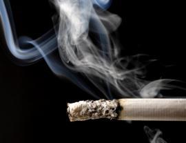 image of burning cigarette