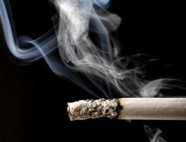 image of burning cigarette