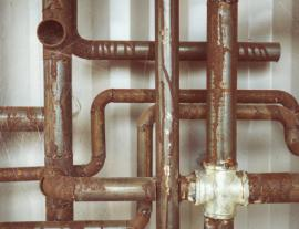 image of rusty water pipes