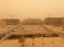 Sandstorm in beersheba