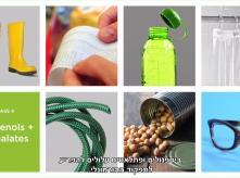 Products that contain bisphenols and phthalates such as food cans, plastic bottles, shower curtains etc