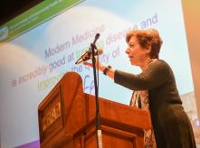 Dr. Birnbaum speaking at EHF's annual conference 2017