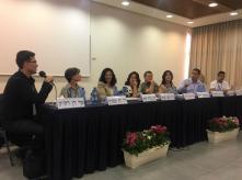 Beer Sheva Conference for Children's Welfare panek participants (credit: Amir Ofer)
