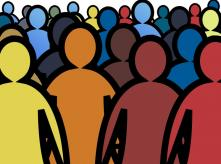 Illustraion of a crowd of people