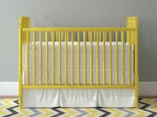 image of yellow baby crib