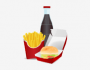 animation of fast food packaging