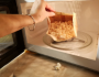 Popcorn bag in the microwave