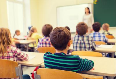 Children and teacher in clasroom