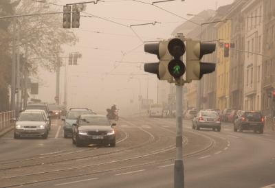Urban Smog Caused By Cars