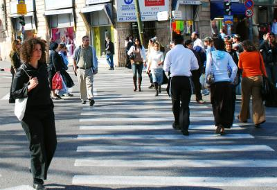 People walking on the street